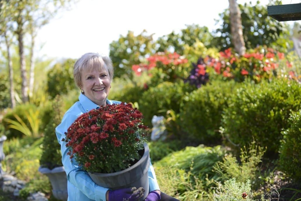 A Person Holding A Flower Garden